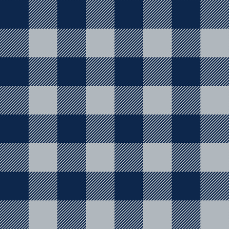 plaid - blue and silver fabric by littlearrowdesign on Spoonflower - custom fabric
