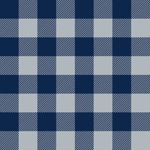 plaid - blue and silver