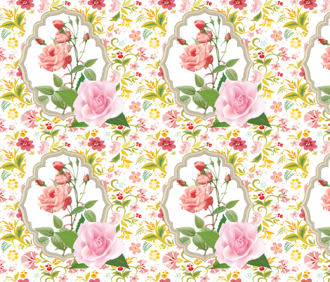 My Kitty Victorian Roses fabric by fabric_is_my_name on Spoonflower - custom fabric