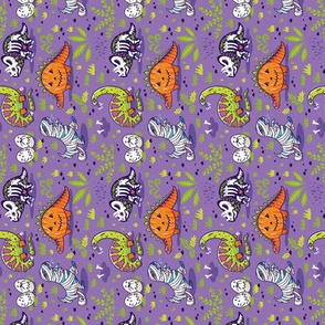 Halloween dinos small size, rotate