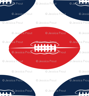 footballs (blue and red)