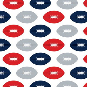 multi colored football - navy, red, grey