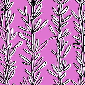 ROSEMARY HERB PINK AND WHITE 20X20