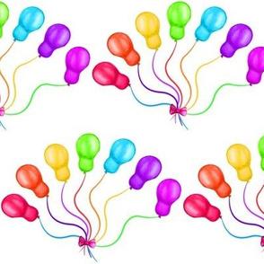 rainbow balloons on white