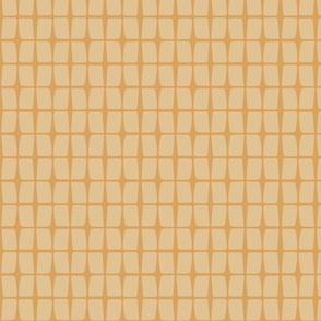 Retro Floral - geo mustard