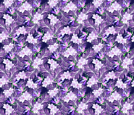 Pink and Purple Palms fabric by kalaii_creations on Spoonflower - custom fabric
