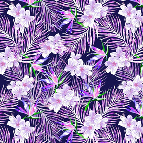 Pink and Purple Palms