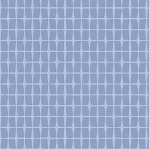 Retro Floral - geo blue