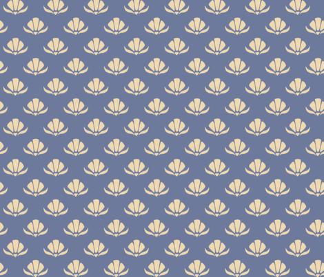 Retro Floral - Pastel gold fabric by sazerelli_designs on Spoonflower - custom fabric