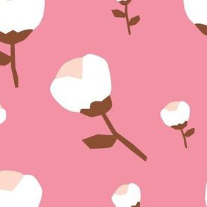 Paper cut cotton boll flower autumn bloom botanical garden theme pink jumbo