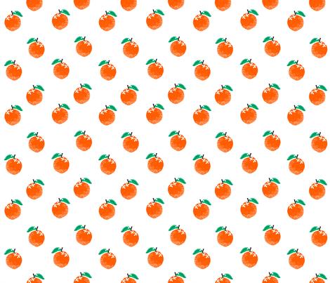 oranges fabric - orange, oranges, fruit, fruits, summer, stripes, kids, seasonal, farmers market, summer design -white fabric by charlottewinter on Spoonflower - custom fabric