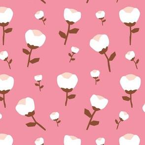 Paper cut cotton boll flower autumn bloom botanical garden theme pink