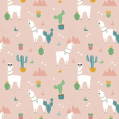 Summer Llamas in the Pink Desert