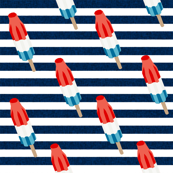 bomb pop - popsicle, ice cream, summer, popsicle, icee, ice, food, - navy stripes