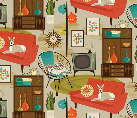 rec room madness fabric by michaelzindell on Spoonflower - custom fabric