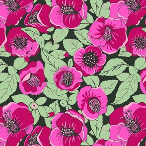 fall floral pink and burgundy floral passion
