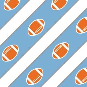 Football Stripes Carolina Blue