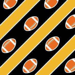 Football Stripes Missouri Gold Black