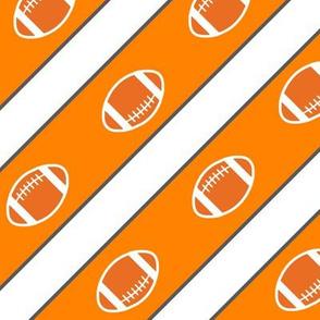 Football Stripes Tennessee Orange