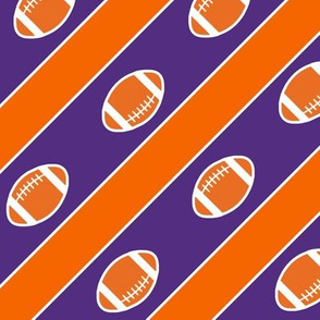Football Stripes Tiger Orange Indigo
