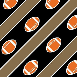 Football Stripes  Vandy Gold Black