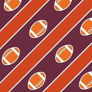 Football Stripes VT Garnet Maroon Orange