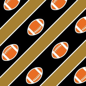 WF Football Stripes Gold and Black