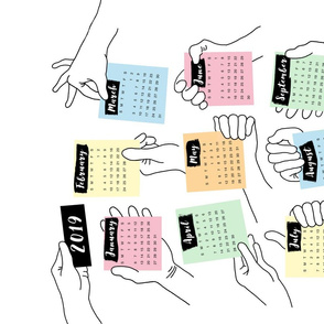 Hands holding post-its 2019
