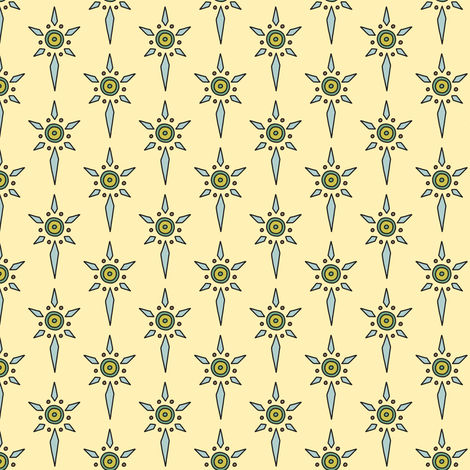 Shield Emblem for Green Naturals fabric by moonpuff on Spoonflower - custom fabric