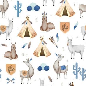 Be Brave Llama - white
