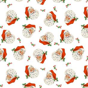 Retro Santa On White 2
