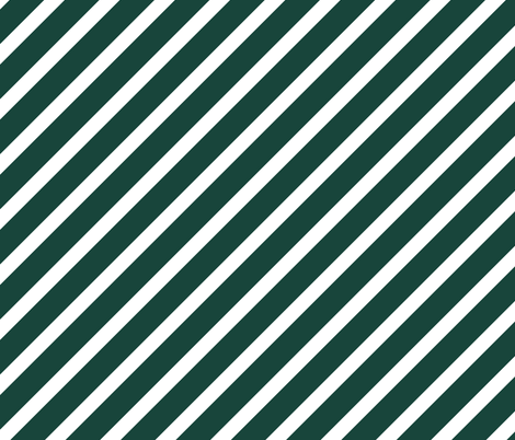Michigan Green and Whit Stripes fabric by khaus on Spoonflower - custom fabric