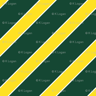 Oregon Green and Yellow Stripes