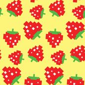 Pacman Cherries Pattern on Black-01