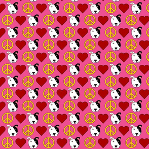 Pink Love Pit Bulls - 1.5 size