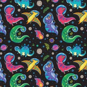Dinosaurs in outer space