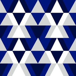 geometric shapes in navy and blue
