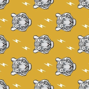 white tiger - mustard with bolts (90) C18BS