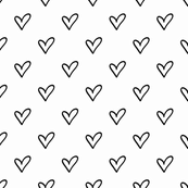 """2"""" Hand Drawn Heart Outline Pattern 