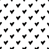 Hand Drawn Heart Solid | Black and White Collection
