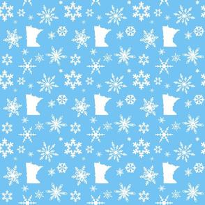 Minnesota Snowflakes Blue