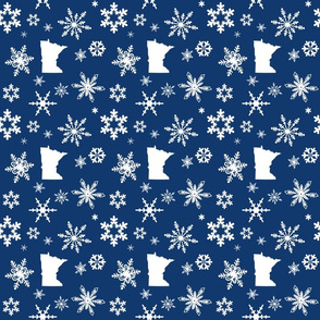 Minnesota Snowflakes Dark Blue