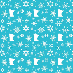Minnesota Snowflakes Teal