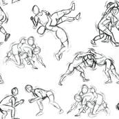Wrestling  Sketches