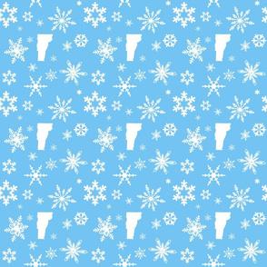 Vermont Snowflakes Blue
