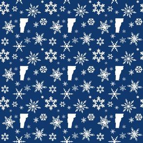 Vermont Snowflakes Dark Blue