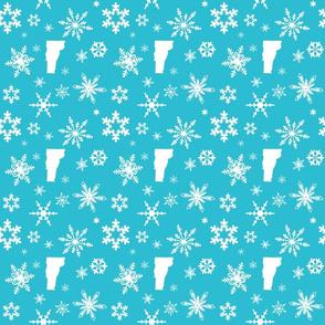 Vermont Snowflakes Teal