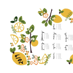 2019 citrus tea towel calendar