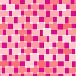 Hash Plaid White on Red and Pink
