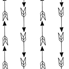 Arrows Hand Drawn Up and Down Pattern | Black and White Collection